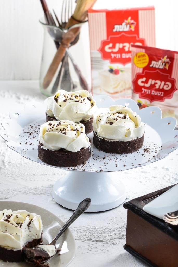 טארט שוקולד וניל