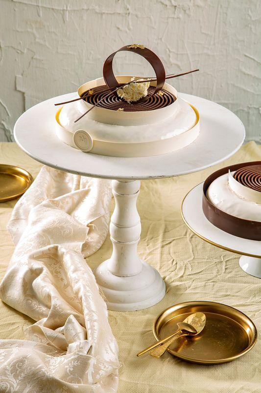עוגת מוס פרלינה ווניל
