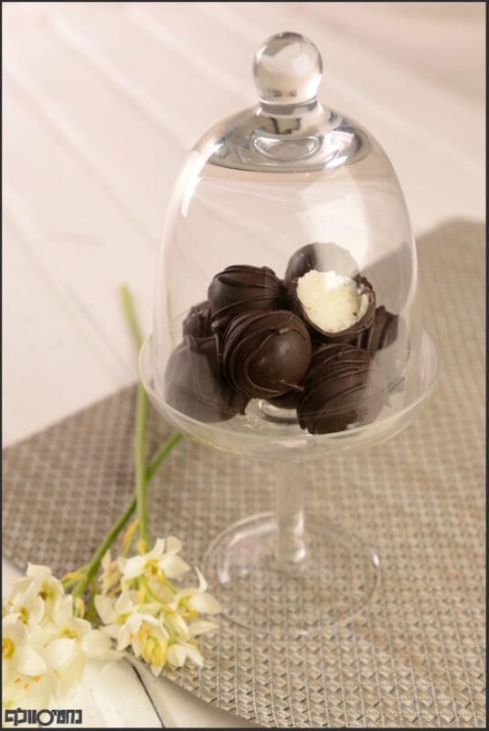 כדורי קוקוס מצופים שוקולד
