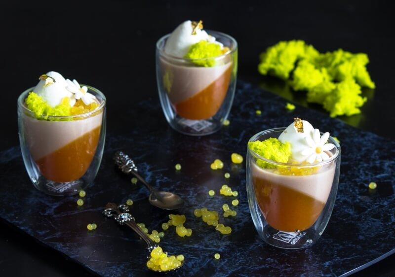 מוס שוקולד וקרמל תפוז