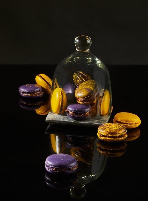 מקרון שוקולד פסיפלורה