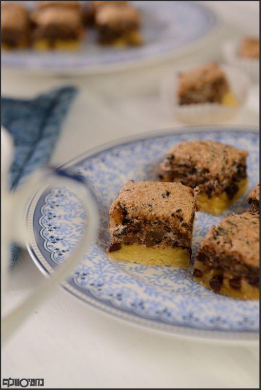 חיתוכיות אגוזים ושוקולד