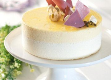 עוגת מוס שוקולד לבן ופסיפלורה