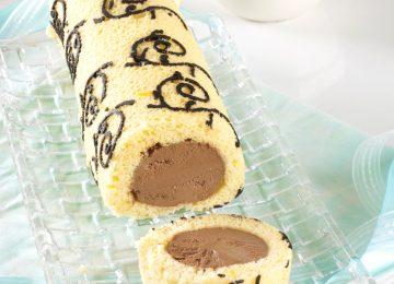 רולדה מצויירת במילוי מוס שוקולד