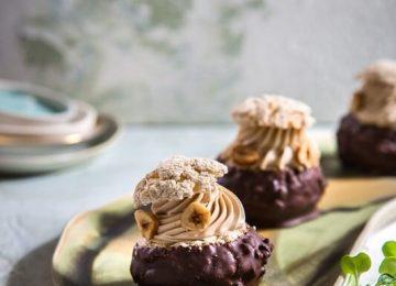 פחזניות שוקולד פרלינה וקרמל