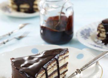 טורט שכבות עם קרם שוקולד