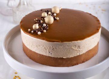 עוגת מוס שוקולד,קפה ולוטוס