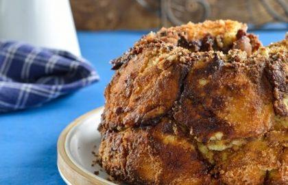 לחם קופים במילוי שוקולד
