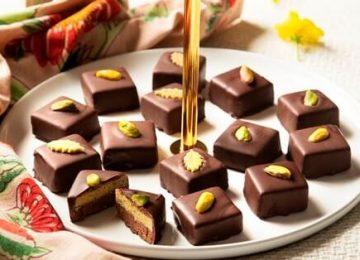 ממתק מרציפן פיסטוק ושוקולד